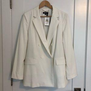 DKNY white blazers